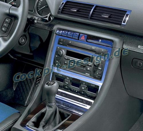 Cockpit dekor f r audi a4 8e b6 b7 3x l ftungsd sen for Interieur a4 2000